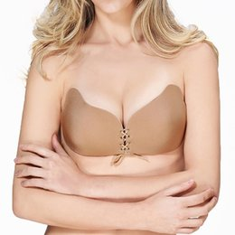 23d73c8c66c Wholesale-MUKATU Invisible Bra Seamless Sticky Adhesive Strapless Bra  Backless Bralette Silicone Fly Bralett Push up Bras for Women