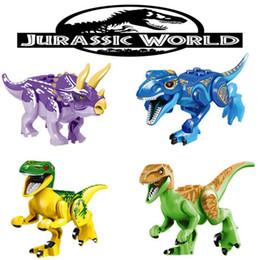 $enCountryForm.capitalKeyWord NZ - Mini figures Jurassic Park Dinosaur blocks 8pcs a lot 16 design Velociraptor Tyrannosaurus Rex Building Blocks Sets Kids toy Bricks gift