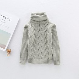 Wholesale Boys Girls Solid Sweaters Shirts Daddy Chen Baby Sweater Turtleneck Soft Warm Sueter Infantil Knitted Bottoming Collar T Shirt