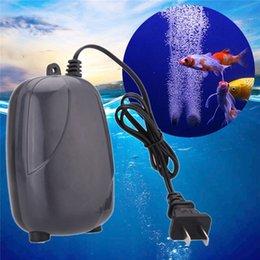220v 3w Tek Kişilik Outlet Akvaryum Hava Pompası Fish Tank Mini Kompresör Oksijen Pompası Akvaryum Aksesuarları İçin Balık Sessiz indirimde