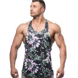 ce3af8ff22b Sexy Gym Clothing Running Vest Men s Sleeveless Shirt Funny Print Tanktop Men  Fitness Bodybuilding Sportswear Male Sports Top