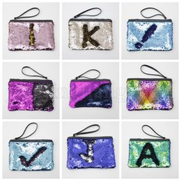 Wholesale Reversible Sequins Clutch Bag Mermaid Makeup Bag Handbag Bling Glitter Evening Party Bag Sparkling Shiny Cosmetic Bags Kids Purse OOA5216