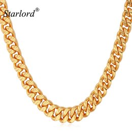 6mm Cuban Chain Australia - Starlord Chain For Men Necklace Vintage Gold Color 6MM 55CM 22'' Fashion Mens Necklace Cuban Link Chain Jewelry N838