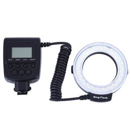 Wholesale RF550D Macro LED Ring Flash with LCD Display for Canon Nikon DSLR Cameras High definition LCD display screen easy operation