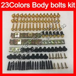 Chinese  Fairing bolts full screw kit For KAWASAKI NINJA ZX2R ZXR250 1993 1994 1995 ZX 2R ZXR-250 1996 1997 97 Body Nuts screws nut bolt kit 23Colors manufacturers