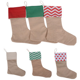 China Canvas Christmas Stocking Stock Christmas Gift Wrap Bag Christmas Tree Decoration Socks Xmas Chevron Stockings 7 Designs 30*45cm HH7-133 cheap long bags suppliers