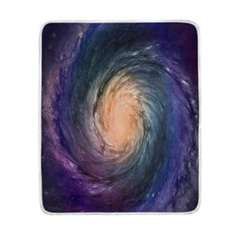 $enCountryForm.capitalKeyWord UK - Spiral Galaxy Universe Colorful Blanket Soft Warm Cozy Bed Couch Lightweight Polyester Microfiber Blanket Throw Size