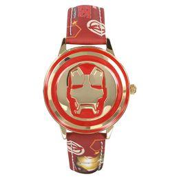$enCountryForm.capitalKeyWord NZ - High quality marvel Iron man gift watch Children Cartoon flip watch students fan gift kids quartz watches in stock
