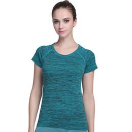 $enCountryForm.capitalKeyWord UK - Wholesale- 5 Style Women Yoga Shirt For Fitness Running Sports T Shirt Female Gym Quick Dry Sweat Breathable Exercises Short Sleeve Tops