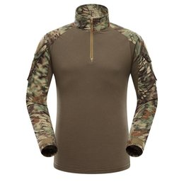 Discount airsoft clothing - Multicam Uniform Military Long Sleeve T Shirt Men Camouflage Army Combat Shirt Airsoft Paintball Clothes Tactical Shirt