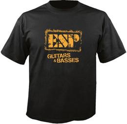 Bass guitar red Black online shopping - ESP Guitars Basses T Shirt Men T Shirt Novelty O Neck Tops Mens Hipster Short Sleeve Tee Tops Harajuku