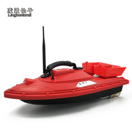 fishing black metal UK - Rc lure boat Fish Finder fishing boat for fishing Wireless bait 1.5kg Loading 500m red