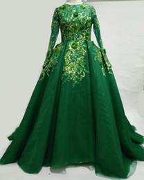 $enCountryForm.capitalKeyWord UK - Organza ball gown prom dresses long sleeves green muslim elegant modest dresses evening islamic prom dress
