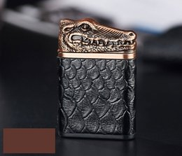 electronic shapes 2019 - USB Charge Lighter Crocodile Shaped PU Metal Lighters Windproof Eco-friendly Cigarette Lighter Creative Gift for Men dis