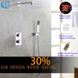 $enCountryForm.capitalKeyWord Canada - C&C Thermostatic Bathroom Shower Faucet Air Drop Water Saving Rain Shower Head All Metal Chrome Mixer Bath & Shower Set