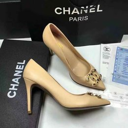 Discount office boxes - Woman Real Leather fashion heels shoes CH Luxury Brand Designer Top Quality shoes Casual shoes with Original box Free DH