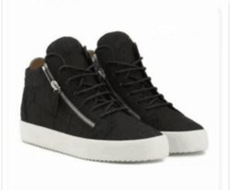 Metal Sneakers Australia - Luxury men casual shoes mens trainers brand new women sneakers with Metal decoration rivet Patent leather Double zipper high top 03