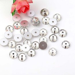 diy stone sew clothe 2019 - 3-8mm Round Rhinestone White Sew on Stone Crystal Flatback 1 Hole for Clothing Accessories Wholesale Diy Jewelry Accesso