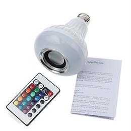 $enCountryForm.capitalKeyWord NZ - Wireless Bluetooth Speaker +12W RGB Bulb E27 LED Lamp 100-240V 110V 220V Smart Led Light Music Player Audio with Remote Control