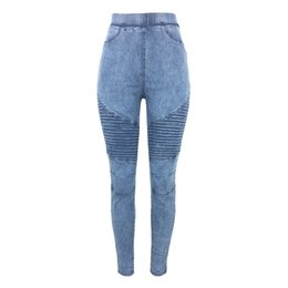$enCountryForm.capitalKeyWord UK - Women Skinny Jeans Autumn Winter Denim Jeggings High Waist Elastic Jeans Leggings Washed Ruched Skinny Pencil Trousers Tights