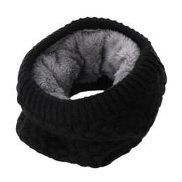 Cowl Snood Scarf Australia - 1PC Kids Boys Girls Solid O Ring Knitted Wool Scarf Snood Infinity Neck Warmer Cowl Collar Circle Crochet Scarf Winter Warm