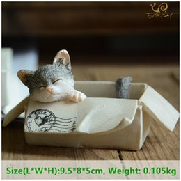 animals ceramics 2019 - ecoration Crafts Figurines Miniatures Everyday Collection easter kawaii cat home decoration accessories animal figurines