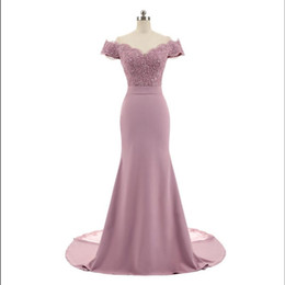 $enCountryForm.capitalKeyWord UK - New Arrival Pink V Neck Cap Sleeve Vintage Lace Appliques Beaded Mermaid Bridesmaid Dresses Party Gowns Vestido De Festa