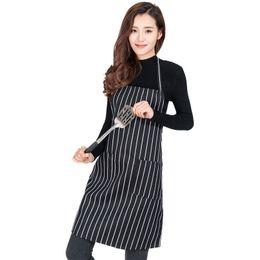 $enCountryForm.capitalKeyWord Australia - Hot Sale Adjustable Bib Apron for Cooking Baking Durable Waiter Cook Backless Striped Pepper Pattern Apron