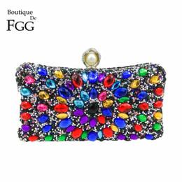 0ac056e755d Black Beaded Bag online shopping - Boutique De FGG Multi Color Crystal Women  Pearl Beaded Black