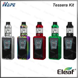 Color fill silver online shopping - Eleaf Tessera Kit with ELLO TS Atomizer mL Top Fill Tessera Mod W Buit in Battery mAh inch TFT Color Display Original