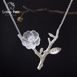 Plastic Rain Chain Australia - Lotus Fun Real 925 Sterling Silver Handmade Designer Fine Jewelry Flower in the Rain Necklace with Pendant for Women Collier S18101105