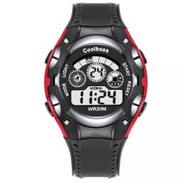 Discount girls electronics - Coolboss Alarm Children Sport Watch Kids Electronic LED Digital Wristwatches Boy Girl Unisex Waterproof Watch Students O
