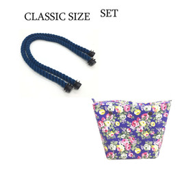 China New flower canvas Inner Zipper Pocket lining waterproof insert big classic for Obag EVA for AMbag O lady women handbag 2017 cheap big flower bucket suppliers