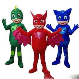 Горячий новый костюм маска для маскарада Парад качества PJ костюмы Mascot Birthdays Catboy Costumes