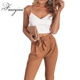 c9e234d91ba3ee PurPle Pants suit belts online shopping - FANCYINN Women Casual Pieces Set  Crop Top Long Pants