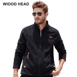 brown coats for men Australia - 2017 New Autumn Winter Warm Coat Men Fleece Jacket Polartec Windproof Thermal For Touris Stand Collar Jacket