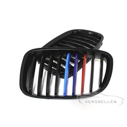 Discount bmw series black kidney grills Quality Fitment Carbon Fiber Front Kidney Grills Gloss Black Three Color M Look for BMW 5 Series GT F07 2014 UP
