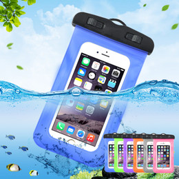 Waterproof Cellphone Case Universal NZ - Universal Waterproof Case Protective Cellphone Dry Bag Pouch For iPhone X 8 7 6 Samsung S8 S9 S7 Smart Phone Diving Swimming