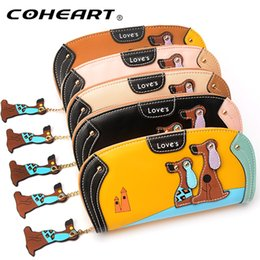 cell phone shapes NZ - Women Wallet Cute Puppy Female Purse Long card wallet coin pocket cell phone pocket big capacity women wallet purse top quality