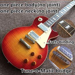 Custom guitar Cherry burst online shopping - 1959 R9 LP standard custom electric guitar Cherry burst color frets cream binding one piece neck body Tune o Matic bridge