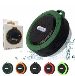 Retail package box mp3 online shopping - C6 Speaker Bluetooth Speaker Wireless Potable Audio Player Waterproof Speaker Hook And Suction Cup Stereo Music Player With Retail Package
