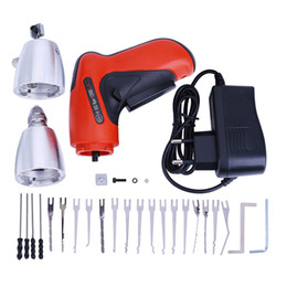 Electric Gun Locks NZ - KLOM Electric Pick Gun PLUS with Carry Case + Needles - Best Electric Lock Pick Gun for Sale
