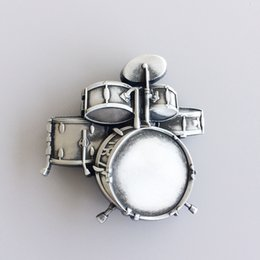 Discount free drum kits New Vintage Drum Kit Music Belt Buckle Gurtelschnalle Boucle de ceinture BUCKLE-MU011AS Brand New Free Shipping