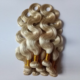 cheap 613 human hair NZ - Malaysian Indian #613 Blonde Human Hair Body Wave Hot selling cheap Factory wholesale price Unprocessed Brazilian Vrigin Human Hair weft