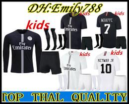 8bb1062ce082 Long sleeve Champions League 18 19 kids Paris DANI ALVES MBAPPE psg soccer  jerseys kit 2018 2019 CAVANI VERRATTI football shirt BOYS maillot
