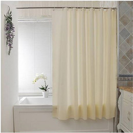 Free shipping Plain Waterproof PEVA Bathroom Shower Curtain 12 Button Holes Beige 135 180cm Shower Curtains Bathroom Accessories from 4gb wifi suppliers