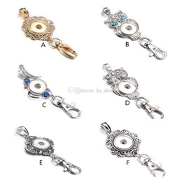ring beautiful boys Canada - Noosa Snap Button Jewelry Beautiful Gold Snap Key Chains Crystal 18MM Snap Button Keychains Key Rings Lanyard Keyring for Women