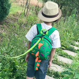 lost backpacks Australia - Children Anti-lost Backpacks Baby Dinosaur School Bags Dinosaur kindergarten Backpacks Animals Backpack Toddler shoulders School Bag