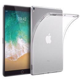 Venta al por mayor de Color caramelo transparente transparente suave silicona mate TPU caso contraportada para iPad 9.7 2018 2017 Air2 5 6 Pro10.5 Mini4