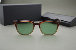 P sunglasses online shopping - HOT Custom dyed lens Oliver peoples ov5031 NDG P sunglasses men and women Vintage square sunglasses with original case